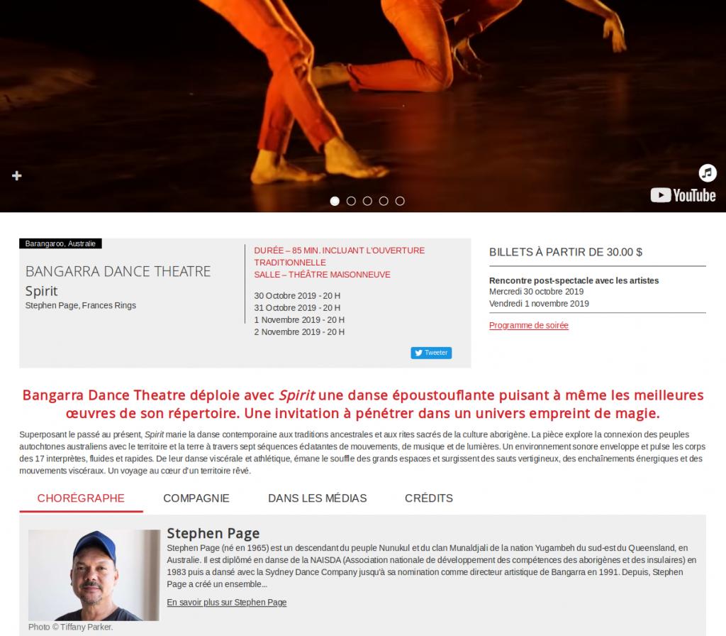 Page Web de Danse danse.