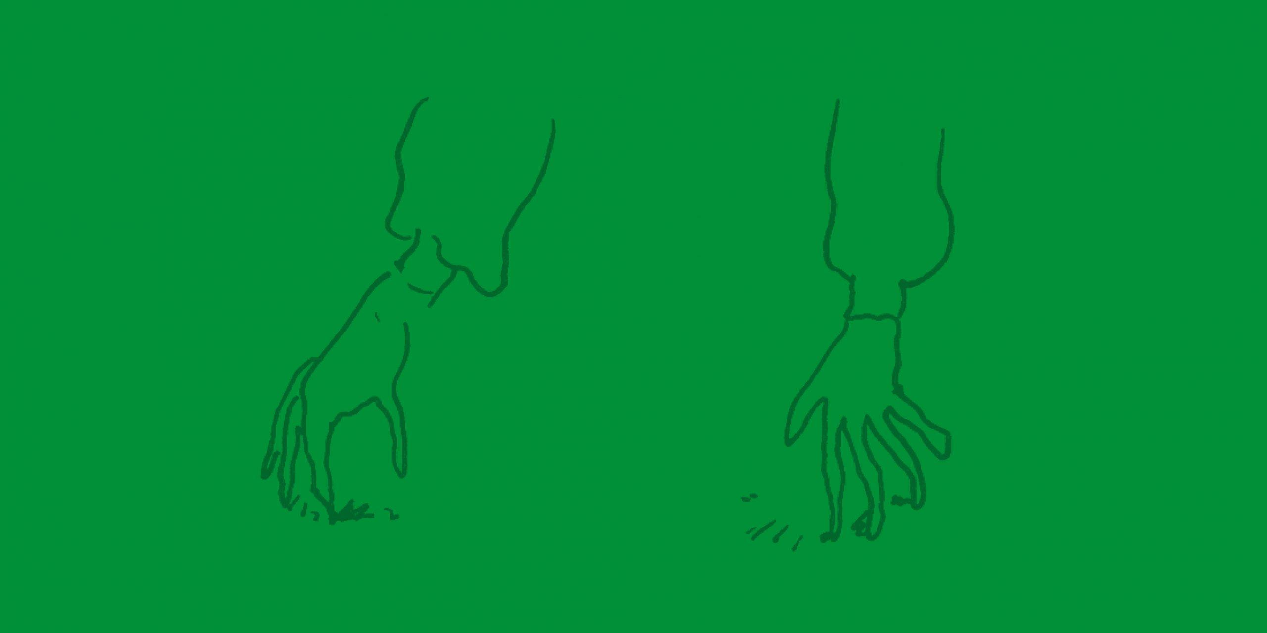 dessin de mains par Clément de Gaulejac